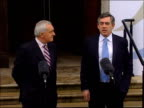 Gordon Brown and Alex Salmond attend British Irish council Prime Minister Gordon Brown speaking at podium SOT Financial package of very big indeed it...