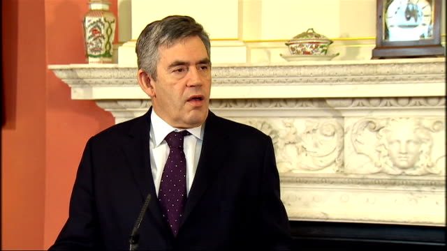 Gordon Brown and Jose Manuel Barroso press conference Brown press conference SOT So I am absolutely clear that protectionism is the road to ruin as I...