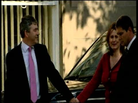 Gordon Brown and wife Sarah walk down street together Sep 06