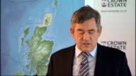 Gordon Brown announces programme to build more offshore wind farms Brown speech SOT This will include up to 30 thousand jobs in installation...