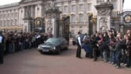 Gordon Brown arrives and leaves Buckingham Palace in order to request from the Queen that parliament be dissolved in order to call a general election...