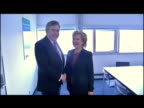 Gordon Brown Hillary Clinton US Secretary of State shake hands pose for photo op at Copenhagen Climate summit