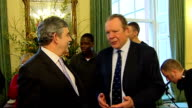 Gordon Brown hosts England Rugby team in Downing Street More of Brown chatting including Bill Beaumont Paul Sackey Nick Easter and Andrew Sheridan