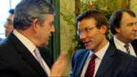 Gordon Brown hosts England team in Downing Street More of Brown chatting to Burns Brown chatting to Rob Andrew Brown chatting to Beaumont Brown...