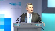 Gordon Brown makes speech at the Thames Gateway Forum Brown speech SOT And alongside these road and rail links DP World has also been given planning...