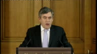 Gordon Brown monthly press conference Gordon Brown press conference continued SOT but what we need is the world to work together/ America has just...