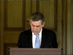 Gordon Brown monthly press conference Gordon Brown press conference Q On cyclone in Bangladesh response from British government aid provided Question...