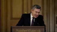 Gordon Brown optimistic about economic future Brown press conference Answers question about buying the X Factor single and writing to Alexandra...