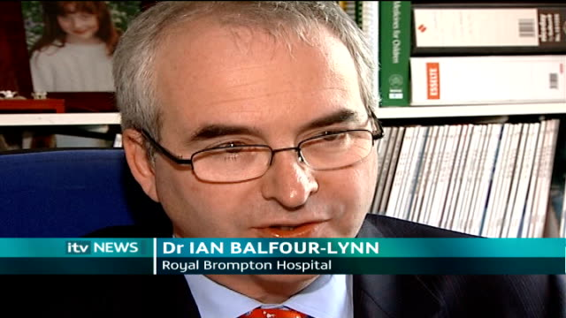 Gordon Brown positive about future of fourmonthold son diagnosed with cystic fibrosis London Dr Ian BalfourLynn interview SOT On the possibility of...