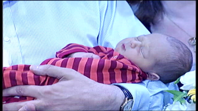 Gordon Brown positive about future of fourmonthold son diagnosed with cystic fibrosis TX Edinburgh James Fraser Brown being held in arms of Gordon...