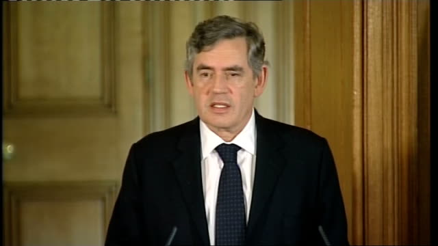 Gordon Brown press conference Silvio Berlusconi Brown press conference SOT The decision in the American election is up to the American people / I've...