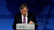 Gordon Brown speech at DIFD Eliminating Poverty Summit Gordon Brown MP speech SOT They say that President Truman had one great sign on his desk in...