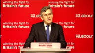 Gordon Brown speech at National Policy Forum in Bristol Gordon Brown speech continued SOT And somehow along the road the financial world lost sight...