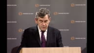 Gordon Brown speech at offices of Thomson Reuters in London Brown speech SOT The founders of Bretton Woods had devised in the 1940s rules for a world...