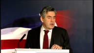 Gordon Brown speech at Press Association Gordon Brown speech continued SOT Our second action has been a monetary and fiscal stimulus for the economy...