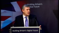 Gordon Brown speech on Britain's digital future Gordon Brown speech continued SOT The new domesday book will for the first time allow the public to...