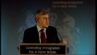 Gordon Brown speech on 'Controlling Immigration For A Fairer Britain' Gordon Brown speech SOT Tier 3 covers unskilled workers This tier is closed and...