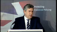 Gordon Brown speech on crime and antisocial behaviour Gordon Brown speech continues SOT Because I know that while we've made real progress people are...