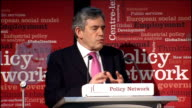 Gordon Brown speech on economic recovery Gordon Brown MP speech SOT And so let me talk about my third proposal to take radical action to accelerate...