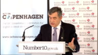 Gordon Brown speech outlining Britain's climate change strategy Gordon Brown MP speech SOT Finance is needed for adaptation for technological...