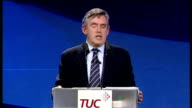 Gordon Brown speech to TUC Conference But we can only make these improvements within a framework of sustainable finances And to pay for these...