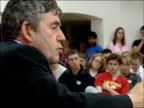 Gordon Brown tells young Labour supporters his vision of free education Brown speaking during question and answer session SOT I don't want people to...