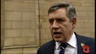 Gordon Brown visiting Wakefield / interview on postal workers strike Gordon Brown MP interview SOT I think instead of striking workers and management...