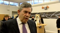 Gordon Brown visits a Construction Skills Academy in Glasgow Gordon Brown MP interview SOT We're using every weapon we have to fight this global...