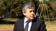 Gordon Brown visits school to launch education fund / comments on IMF job Gordon Brown MP speaking to press SOT We need to see jobs being created...