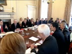 Gordon Brown's Cabinet reshuffle First cabinet meeting ENGLAND London Downing Street INT Gordon Brown sitting round table with his newly appointed...