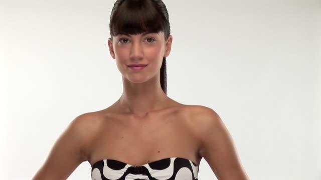 Gorgeous brunette woman