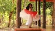 Vackra kvinnliga dansare