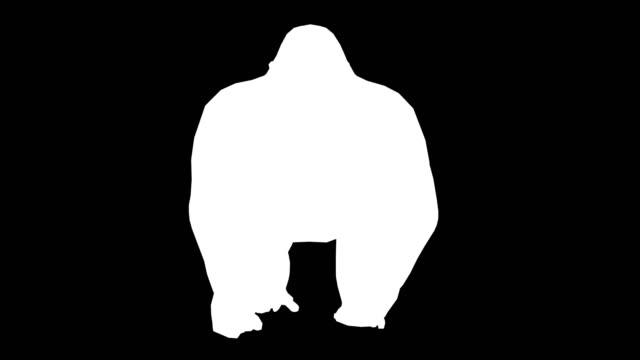 Gorilla Running Silhouette (Loopable)