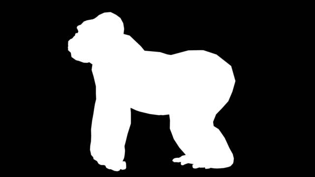 Gorilla Silhouette (Loopable)