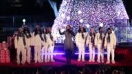 Gospel artist Yolanda Adams accompanied by Howard University Afro Blue Vocal Jazz Ensemble performs at the 94th Annual National Christmas Tree...