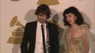 SPEECH Gotye Kimbra on new works at The 55th Annual GRAMMY Awards Press Room 2/10/2013 in Los Angeles CA