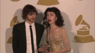 SPEECH Gotye Kimbra on their music at The 55th Annual GRAMMY Awards Press Room 2/10/2013 in Los Angeles CA