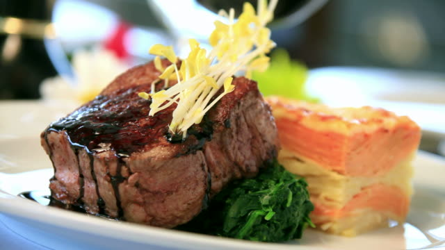 Gourmet Steak and Potatos