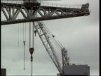 Govan shipyard jobs saved Workers away from shipyard Cranes at shipyard Workers away Cranes i/c
