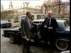 Government angered over Gerry Adams visit to United States ENGLAND London Ambassador's car arriving at Palace of Westminster Ray Seitz getting out of...
