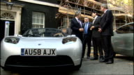 Government announces plans for more electric car Geoff Hoon and Gordon Brown at photocall Various shots of Brown speaking to ZEV...