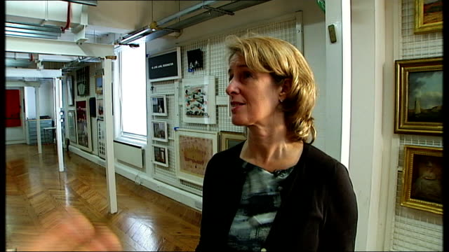 Government Art Collection to go on public display for first time Penny Johnson and reporter along in Government Art Collection store Various shots of...