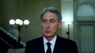 Government heads off potential Tory rebellion over plans to restructure the armed forces Philip Hammond interview ENGLAND London INT Philip Hammond...