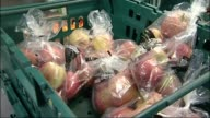 Government issues new guidance on supermarket labelling to try to prevent food waste T21101324 / TX Various shots of apples bananas and pears in...