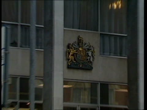 Government makes changes in Probation Services ENGLAND London CMS Coat of Arms PULL OUT Court building