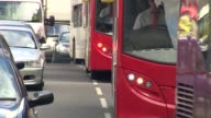 Government ordered to take action on air pollution limits ENGLAND West Midlands Birmingham EXT Close shot fumes from exhaust pipe Traffic towards Car...