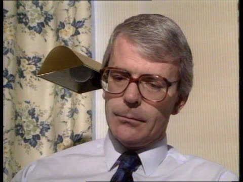 Government response to delors plan Blackpool John Major preparing for speech TX