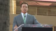 Governor Arnold Schwarzenegger at the James Cameron Honored With A Star On The Hollywood Walk Of Fame at Hollywood CA