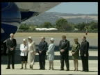 Governor General Peter Hollingworth resigns LIB Hollingworth waiting on tarmac with others Queen Elizabeth II along as greeted by Hollingworth