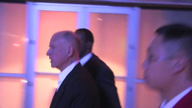 Governor Jerry Brown leaving Staples Center 02/17/12